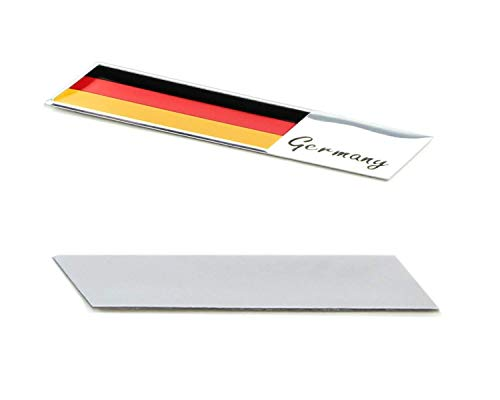 iJDMTOY Aluminum Plate Germany Flag Emblem Badge For Germany Car Front Grille, Side Fenders, Trunk, Dashboard Steering Wheel, etc