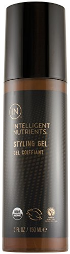 Intelligent Nutrients USDA Certified Organic Styling Gel – Medium Hold Organic Hair Styling Gel with No Petrochemicals for Men Women 5 oz
