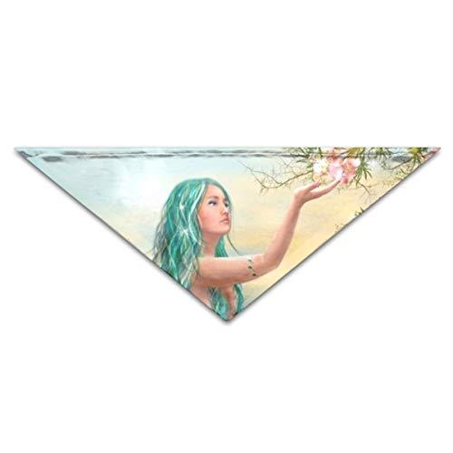 OLOSARO Dog Bandana Fantasy Mermaids Art Idea Triangle Bibs Scarf Accessories for Dogs Cats Pets Animals -