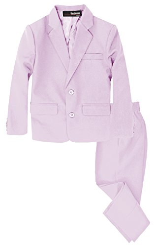 - G218 Boys 2 Piece Suit Set Toddler to Teen (8, Lilac)