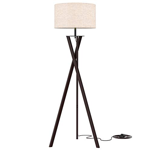 LEPOWER Tripod Floor Lamp, Modern Design Standing Lamp, Mid Century Wood Reading Lamps for Living Room, Bedroom and…