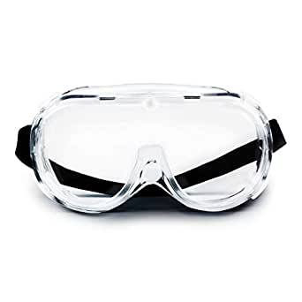 V by Vye | Safety Goggles | 1 Pack Protective Eyewear Anti-Fog Clear Safety Glasses for Men and Women | for Work and Play - Ships Direct from USA