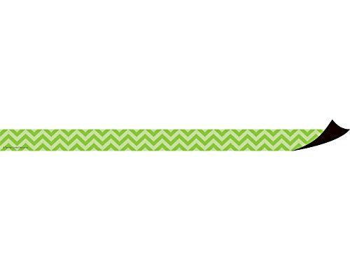 Teacher Created Resources Lime Chevron Magnetic Strips (77138)