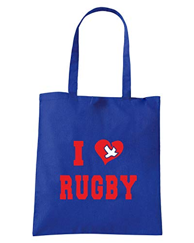 Borsa Shopper Royal Blu TRUG0165 I LOVE RUGBY LOGO