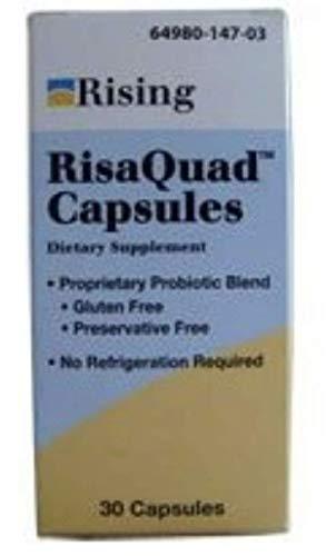 Risaquad Capsules, Probiotic Dietary Supplement 30 ea (Pack of 10)