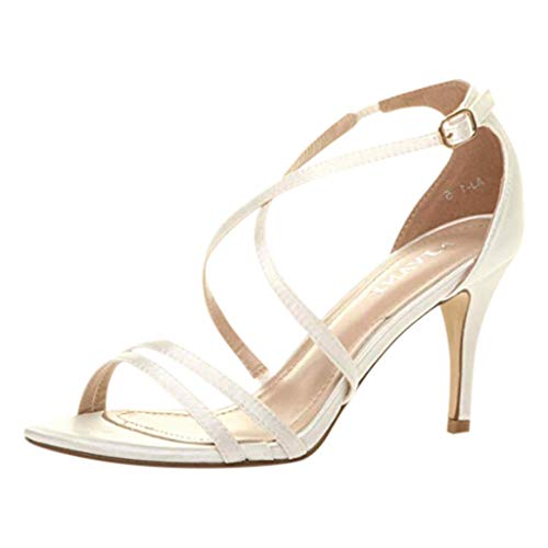 DDKK sandals Sale Hot Deal Open Toe Bridal Wedding Evening Dress Casual Party Shoes for Women-Women Ankle Strap Stilettos High Heels Criss Cross Sandals