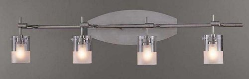 (George Kovacs P5014-084, Shimo, 4 Light Vanity FIxture, Brushed Nickel)