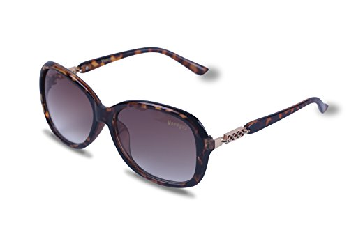 Vseegrs Sunglasses Anti-UV Oversized Eyewear for Women and Girls (Style 3-Brown, - Oval Oversized Sunglasses