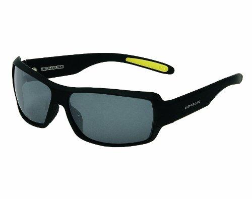 Body Glove Vapor 14 Polarized Sunglass, Smoke Polarized with Silver Mirror Flash/Matte Black - Polarized Body Glove Sunglasses