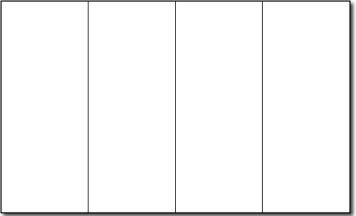 8 1/2'' x 14'' 90lb Index White 4 Panel Brochure Paper - 250 Brochures by Desktop Publishing Supplies, Inc.
