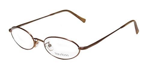 Vera Wang V09 For Ladies/Young Women/Girls Oval Full-Rim Shape Spring Hinges Light Style Imported From Italy Eyeglasses/Eye Glasses (49-17-140, ()
