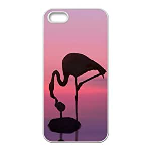 BE A FLAMINGO IN A FLOCK OF PIGEONS iPhone 5 5s Cell Phone Case White S4749412