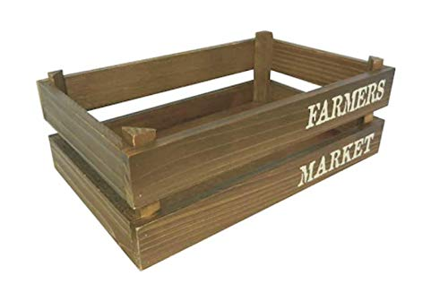 Small Farmer's Market Wooden Crate Storage Container Rustic Floral Display Mason Jar Holder