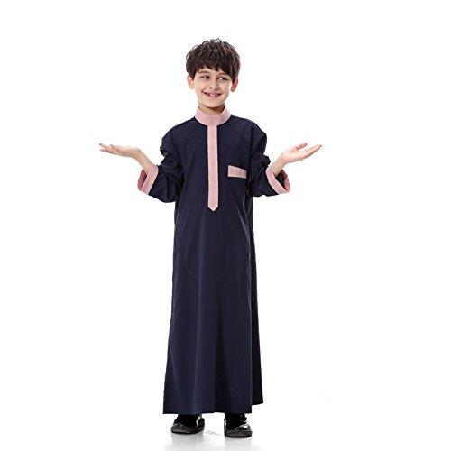 Saudi Arabian Kids Costume (ROMANTIC BEAR Muslim Children's kurta - Muslim Robe Pakistani Costumes Traditional Clothing)