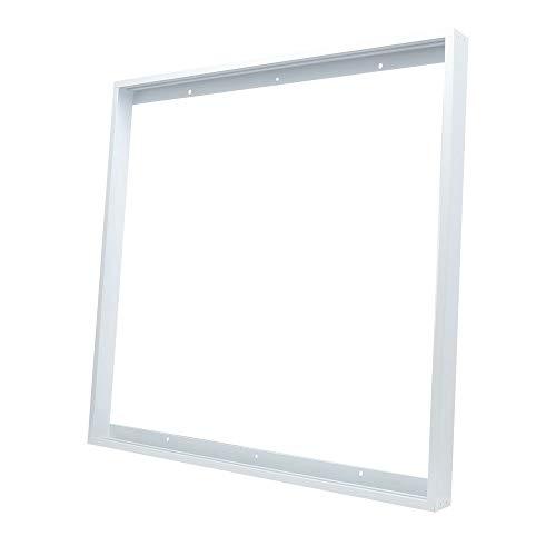 2x2FT LED Panel Light Surface Mount Frame, Flush Mounting Kit for LED Light Panel, Drop Ceiling Lights, Aluminum Flush Mount Bracket for Ceiling or ()