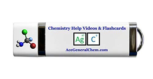Great with Any Book or Textbook General Chemistry Condensed Course Videos on USB High School or AP Chemistry Hours of Video Review /& Flash Cards for College 14 General Chemistry Help Includes