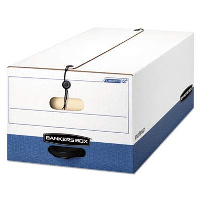 Bankers Box Liberty Legal Storage Box - Legal - Internal Dimension 10amp;quot; Height x 15amp;quot; Width x 24amp;quot; Depth x - External Dimensions 10.75amp;quot; Height x 15.25amp;quot; Width x 24amp;quot; Depth - Plastic, Fiberboard - White