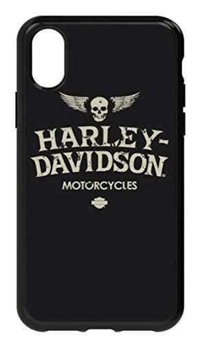 (Harley-Davidson Distressed Wings iPhone X Flexible Phone Shell, Black 7917)