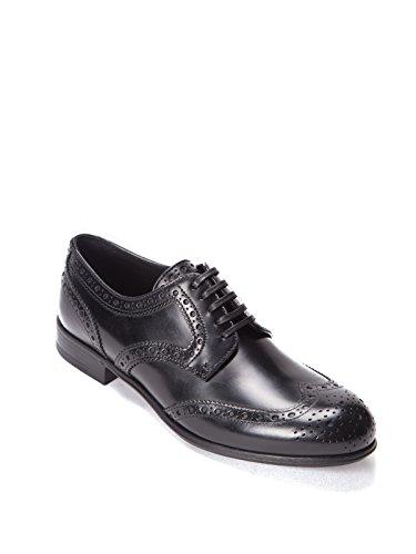 Dolce E Gabbana Femme CN0012AC80180999 Noir Cuir Chaussures À Lacets