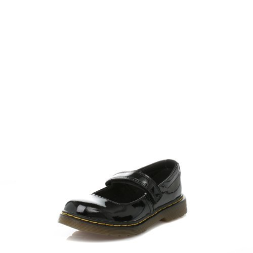 Dr. Martens Maccy Mary Jane (Little Kid),Black Patent,10 UK(11 M US Little Kid) -