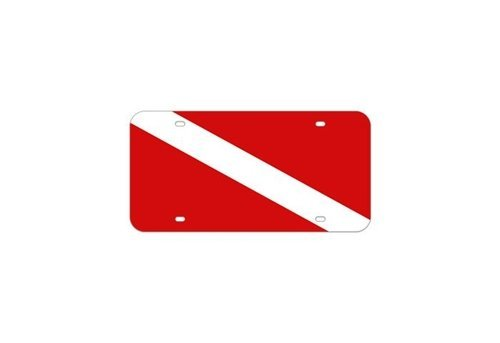 (Trident Scuba Dive Flag Metal License Plate)