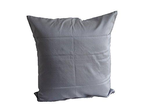Lotus House Satin Grey Silk Pillow Case by Lotus House