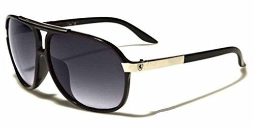 Mens Womens Retro Vintage 80s Classic Fashion Designer Aviator Sunglasses Black-Black (2)