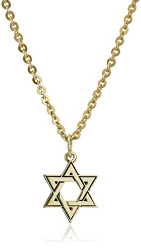 Bob Siemon 22k Yellow Gold Plated Pewter Star of David Pendant Necklace, 20""