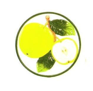 GREEN APPLE TRIVET/PLAQUE -slice *NEW!* ()