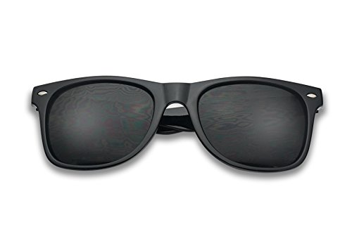 Classic Black 80's Styles Sunglasses with Super Dark Solid Black - Style Sunglasses 80 S