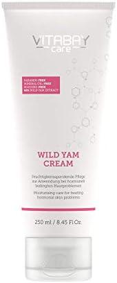 Crema mujer Vitabay Wild Yams (250 ml) • Crema antiedad ecológica con 80% Extracto de Ñame reafirmante • Efecto hidratante, antiarrugas y antimanchas • 64% diosgenina