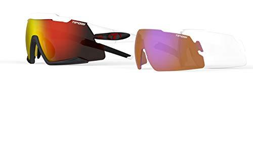 Tifosi Optics Aethon Sunglasses (White/Black, Clarion Red) ()