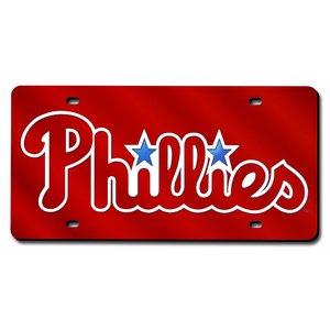Rico Philadelphia Phillies MLB Laser Cut License Plate Cover - Mlb Baseball License Plate Plates