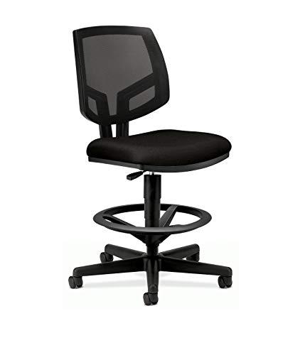 The HON Company GA10.T HON5715GA10T HON Volt Mesh Back Task Upholstered Adjustable Office Stool, Black (H5715)