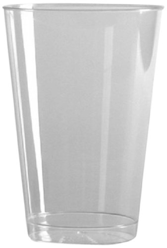 Comet Rigid Plastic Smooth Wall Drinking Cup, 14 Ounce, Clear (500-Count) by WNA