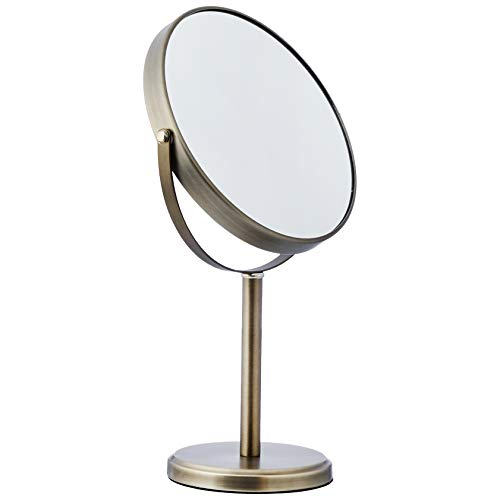 AmazonBasics Modern Dual Sided Magnification Makeup Vanity Mirror, Tall, - Mirrors Standard A Wall Height For Bathroom