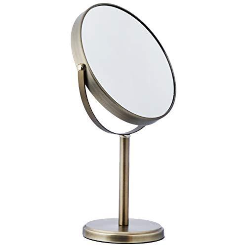 AmazonBasics Dual Sided Tall Vanity Mirror, Pewter ()