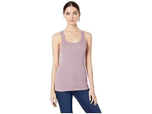 Splendid Women's 1x1 Rib Sleeveless Tank Top, fig Purple, M (6pm Splendid)