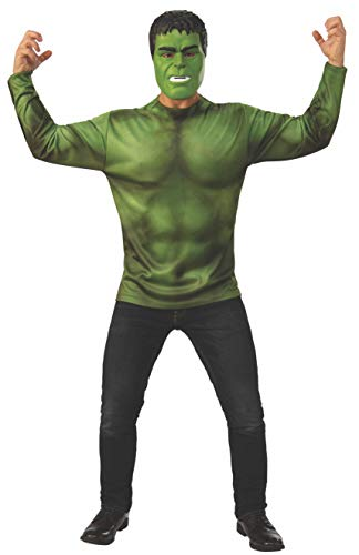 Rubie's Adult 700711 Marvel: Avengers Endgame Hulk Costume Top and Mask, Color As Shown, Standard