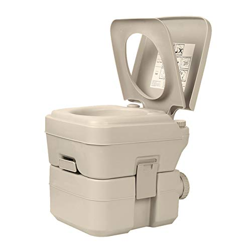 XIMENG Portable Toilet for Camping Traveling Outdoor Recreational Activities Portable Potty for RV Camper Van Trailer Motorhome Truck 5.2 Gallon -