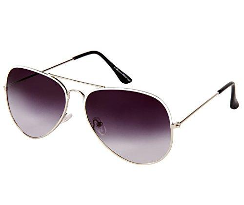 Cristiano Ronnie Silver with White Enamel Aviator Sunglasses