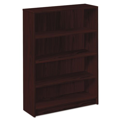 Series 4 Shelf Bookcase (HON 1874N 1870 Series Bookcase, Four Shelf, 36w x 11 1/2d x 48 3/4h, Mahogany)