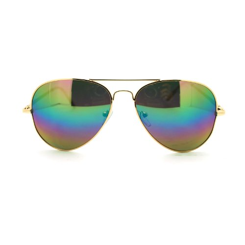 Oil Slick Rusta Revo Mirror Lens Police Motorcycle Cop Aviator Sunglasses - Cop Glasses Sun