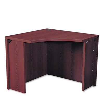 HON 105810NN 10500 Series 18 by 36 by 29-1/2-Inch Curved Corner Workstation Desk, Mahogany ()