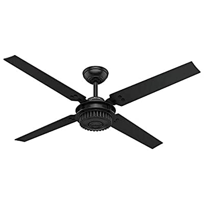 """Hunter 59235 54"""" Chronicle Ceiling Fan with Wall Control, Large, Matte Black"""