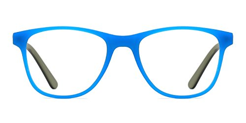 modesoda Kids Acetate Classic Eyeglasses Frame Matte Colored for Boys/Girls - 130 Mm Eyeglasses