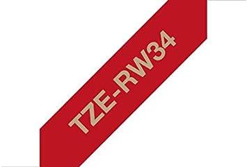 Brother TZE253 Nastro Laminato 24 mm Blu//Bianco