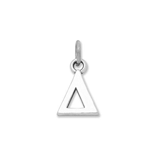 Sterling Silver Greek Alphabet Letter Charm - Delta Measures 13x10mm