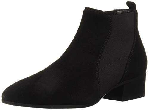 Aquatalia Women's Falco Suede Chelsea Boot, Black, 9 M US
