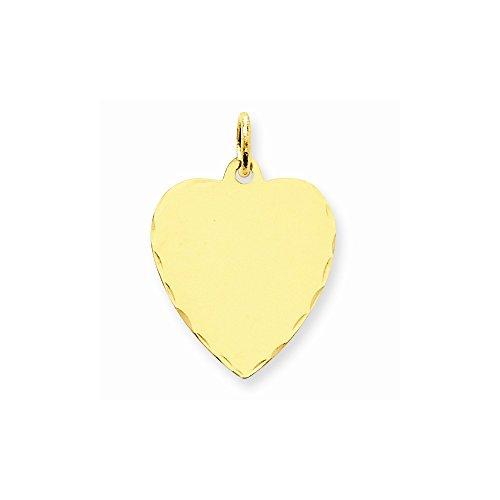 Buy core gold 14k medium engravable heart charm
